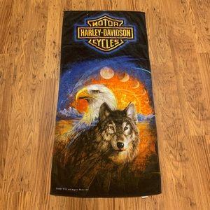 2001 Harley Davidson beach towel